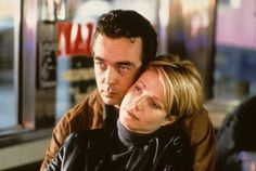 """Helen (Gwyneth Paltrow): """"I kissed you."""" // James (John Hannah): """"Yeah, I spotted that too."""" -- from Sliding Doors (1998) directed by Peter Howitt"""