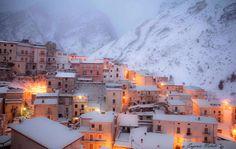 Snow in Fara San Martino dec 2014