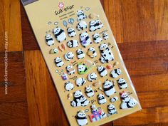 You will receive 1 sheet of puffy Panda stickers.  These stickers are perfect for scrapbooking, gift wrapping, sticking into planners and diaries to mark special occasions, and make perfect gifts for EVERYONE, regardless of age!  I am a sticker collector too, and am very careful that all the stickers that I sell are 101% authentic, free of any printing imperfections, and are 1000% kawaii =)  Please let me know if you have any questions about any of my products - I'll be more than happy t...