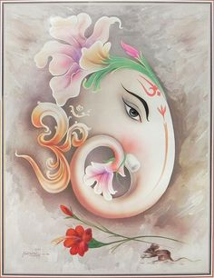 Artistic Face of Lord Ganesha (Reprint on Paper - Unframed))