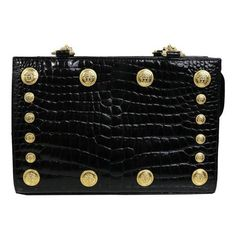 d495e2e343e2 Preowned Gianni Versace Couture Black Medusa Chain Shoulder Bag (18.025  HRK) ❤ liked on