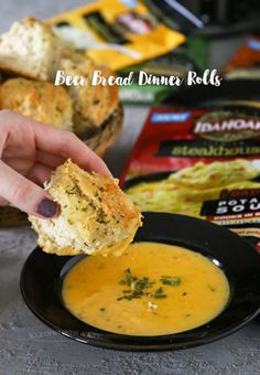 Beer Bread Dinner Rolls - Beer Bread Dinner Rolls are a quick & easy family dinner idea that's ready to eat in just 45 minutes. Pair them with delicious soup & you have a hearty meal! #MyRecipeMagic