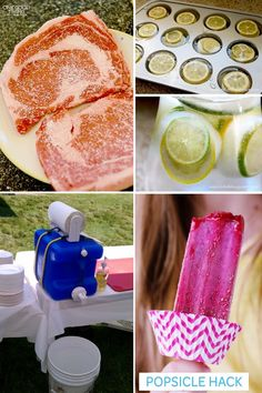 21 Super Summer Party Tips.  <3 the chopped popsicles or frozen fruit instead of ice
