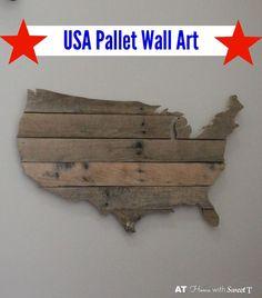 USA Pallet Wall Art