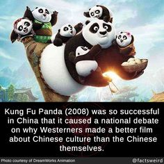 Kung Fu Panda was so successful in China that it caused a national debate on why Westerners made a better film about Chinese culture than the Chinese themselves. Wtf Funny, Funny Memes, Hilarious, Kung Fu Panda Quotes, Motivational Movie Quotes, Dark Humour Memes, Interesting Information, Wtf Fun Facts, Chinese Culture