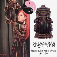 Loạt trang phục hàng hiệu đắt giá của Black Pink trên tạp chí hình ảnh 2 Blackpink Fashion, Kpop Fashion Outfits, Stage Outfits, Chic Outfits, Fashion Dresses, Womens Fashion, K Pop, Cut Pic, Sheer Mini Dress