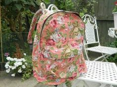 This fabulous Vintage floral backpack is available in dusky pink and brought to you by popular demand!  It's made with a gorgeous cotton fabric with vintage roses...ideal for a weekend break, music festival, the gym or college/school.  There is a large zipped compartment to the front of the backpack and an inner compartment to put a purse, mobile phone and even lipstick.