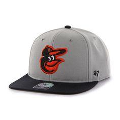 promo code 8f337 8a38d Baltimore Orioles Sure Shot Two Tone Captain Gray 47 Brand Adjustable Hat