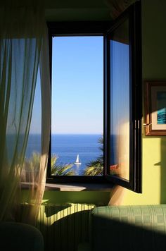 Window on the Italian Riviera. Loved staying at this gem of a hotel.