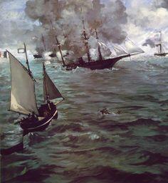 Manet キアサージ号とアラバマ号の海戦 マネ