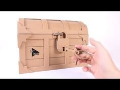 (65) How to make Treasure Chest with a Lock - Cardboard DIY - YouTube