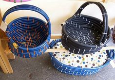 Amazing Repurposed and Restored Ideas -> Upcycling garden hose into baskets