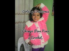 CHOMPA/ABRIGO PARA NENA DE 4-5 AÑOS TEJIDO A CROCHET - 1ERA. PARTE - YouTube