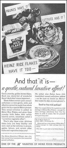Breakfast Cereal, Breakfast Time, Rice Flakes, Old Ads, Good Housekeeping, Vintage Ads, 1930s, Graphic Design, Marketing