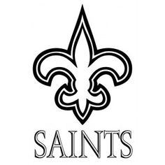 saints car decal