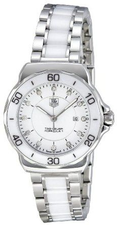 SALE!! Tag Heuer Women's WAH1315.BA0868 Formula 1 White Dial Dress Watch REVIEW