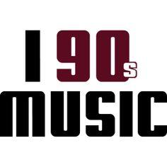 I Love 90s Music - Dir gef�llt die Musik der 90er Jahre ob Techno, Hip Hop oder Dance, dann ist dass das passende Motiv f�r dich.