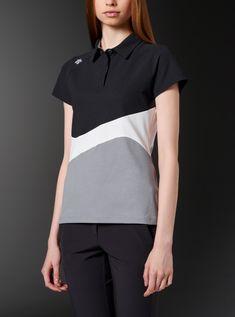 ショートスリーブシャツ Polo Shirt Style, Polo Shirt Outfits, Polo Shirt Design, Polo Design, Polo Outfit, Boys Shirts, T Shirts For Women, Work Uniforms, Tennis Clothes