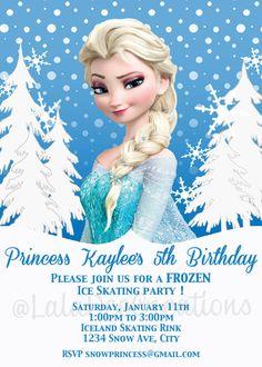 Frozen Birthday Invitation / Elsa / 5x7 / by LalaDeeCreations, $10.00