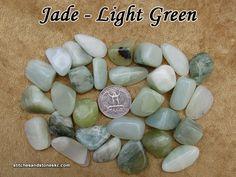 Jade Light Green tumbled stone