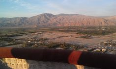 April sunrise - we can see La Quinta and Indian Wells from the gondola.