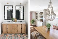 Scout & Nimble talks with the California interior designer Kathryn Miller on what inspires her, design trends to watch for and the best ways to decorate. Hanging Pendants, Tile Patterns, Double Vanity, Design Trends, Design Inspiration, House Design, Interior Design, Designers, Interiors
