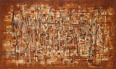 norman lewis paintings | Norman Lewis (American, 1909-1979). Tenement II, 1950. Oil on canvas ...