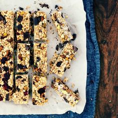 Chewy Homemade Granola Bars with Chocolate, Cranberries + Pistachios.  Healthy, easy and no-bake!