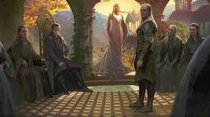 The Hobbit - Elven Sanctuary Thranduil, Legolas, House Of Leaves, Jrr Tolkien, Fantasy Series, Star Wars Art, Lord Of The Rings, Narnia, Elf