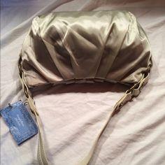 Vera Wang Beige Shoulder Handbag NEW. Never Used. Beige Colored. Monogrammed Hardware & Lining Vera Wang Bags Shoulder Bags
