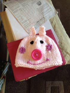 My own peppa pig hat