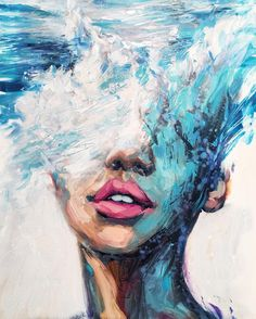 Philly's Young Artist, Lindsay Rapp, On Female Subjects, Crashing Waves And Owning Her Own Gallery - Kunst Malerei Texture Painting, Painting & Drawing, Paint Texture, Texture Art, Painting On Hand, Artist Painting, Simple Paintings On Canvas, Acrylic Art Paintings, Abstract Ocean Painting