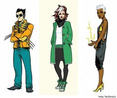 Andy MacDonald Fashions New Looks for the X-Men [Art]