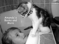 Black and white photo of girl and kitten #cute #photography
