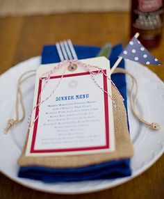 A roundup of some of the most unique and beautiful red white and blue wedding inspiration around with a serious dose of patriotic wedding flavor. July 4th Wedding, 4th Of July Party, Fourth Of July, Wedding Stationery Inspiration, Wedding Inspiration, Wedding Ideas, Wedding Flavors, Wedding Etiquette, Personalized Wedding Favors