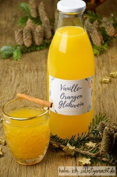 Weihnachtlicher weißer Vanille Orangen Glühwein