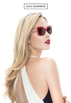 e3702e6b3 Lulu Guinness eyewear walks the fine line between glamour and mischief.  Irresistible since 1989