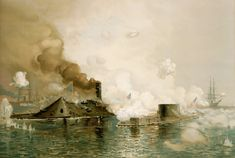 The first clash of ironclads on March 9, 1862 in Hampton Roads revolutionized naval warfare. bit.ly/1RzM4Eo -- Mark St. John Erickson