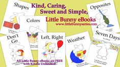 Little Bunny series Free Printable Worksheets, Preschool Worksheets, Preschool Crafts, Free Printables, Teaching Abcs, Adorable Bunnies, Bunny Book, Love Parents, Reading Worksheets