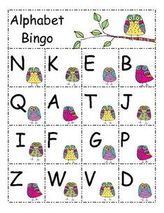 Alphabet Bingo: This a great way to reinforce letter recognition in a fun way. My students love bingo and I love the extra practice they get from i...