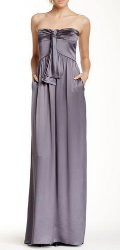 Giorgio Armani   Emporio Armani Strapless Silk Dress