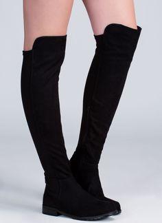 Major Stems Faux Suede Boots BLACK - GoJane.com