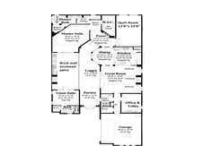 Narrow lot retirement floor plan.  Courtyard