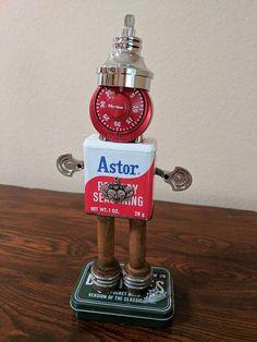Meet:John Jacob Found Object Art Assemblage Robot