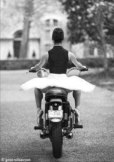 Girl on Triumph