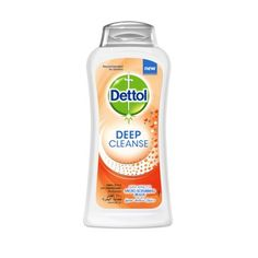 Dettol Deep Cleanse Shower Gel with Apricot Micro-scrubbing beads, provides 100% Better Skin Protection.