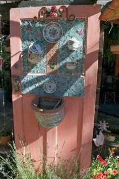 Funky Junky old door with mosaic