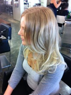 Strawberry blonde to light blonde balayage #hair #balayage