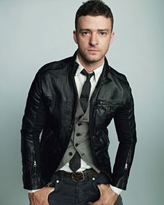 Edgy mens style- Pair a Tie, vest, and classy button up with a Leather Jacket