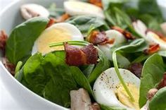 Delicious Hot Bacon Dressing ~Spinach Salad
